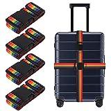 Tagaremuser 4er Pack Gepäckgurte Strapazierfähige Koffergurte Verstellbare Regenbogen-Packgurte...
