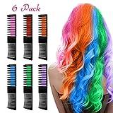 Haarkreide für Mädchen, Nivlan 6 Stück Haarfarbe Kamm, Temporär Haarfarbe Kreide Kamm für...