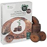 OwnGrown Kokos Quelltabletten mit Nährstoffen – 36 Stück, Kokoserde gepresst zur Pflanzen...