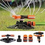 Eterbiz Garten Sprinkler System, 360 Rotation 3-Arm drehender Wasser Sprenger, Verstellbarer...