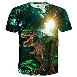 Neemanndy Unisex 3D Graphic Print Cool Design Kurzarm T-Shirts für Damen und Herren - Mehrfarbig -...