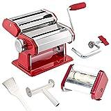 bremermann Nudelmaschine für Spaghetti, Pasta, Ravioli und Lasagne (7 Stufen), Pastamaschine,...