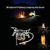 Walmeck- Portable Winddicht Camping Gasherd mit Piezo Zndung Leichte Klapp Outdoor Backpacking...