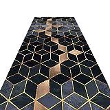 630WZM Läufer mit 3D-geometrischen Mustern, für Flur, Hotel, Schlafzimmer, rutschfeste...