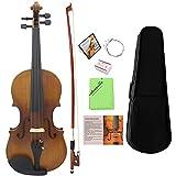 ammoon Violin 4/4 Voll Gre Geige 4-saitiges Instrument Matt Fertig Fichte Gesicht Board Ebenholz...