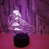 Kreative Bunte Turnschuhe USB 3D Nachtlicht LED Schlafzimmer Büro Dekoration Tischlampe für Sport...