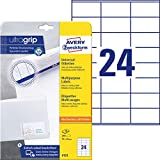 AVERY Zweckform 6122 Adressaufkleber (mit ultragrip, 70 x 36 mm auf DIN A4, Papier matt,...