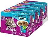 Whiskas 11 + Katzenfutter, Hochwertiges Nassfutter für gesundes Fell, Ausgewogenes Feuchtfutter in...