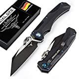 Bullhead Patentiertes Taschenmesser mit Zweihand & Einhandmodus | extra scharfes Premium Klappmesser...