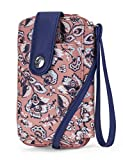 Nautica Caroline Vegan Leather RFID Womens Crossbody Phone Bag Wallet (Surfline Paisley)