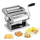 Nudelmaschine Pasta Maker Edelstahl Frische Manuell Pasta Walze Maschine Cutter mit Klemme für...