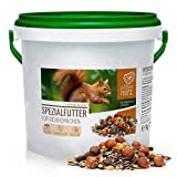 wildtier herz | Eichhörnchenfutter 1 kg für Eichhörnchen und Streifenhörnchen – Futtermischung...
