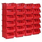 24x Profi Sichtboxen Größe 2 rot NEU Stapelboxen Sicht-Lagerbox Boxen Sichtbox