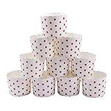 webake Muffin Förmchen Papier Muffinförmchen Papierförmchen in Rosa Punkt Tupfen für Muffin...