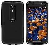mumbi Hülle kompatibel mit Motorola Moto G3 Handy Case Handyhülle, schwarz