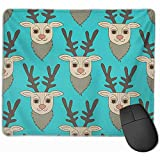 Gaming Mouse Pad, Maus Matte Brown Animal Teal Deer Green Bambi Cartoon Feiern Sie Celebration...
