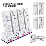 Wii Fernbedienung Ladegert Set,TechKen Wii Remote Controller Ladestation Docking Station Wii Charger...