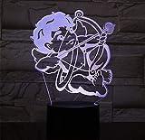 3D LED Licht Amor Bogen Pfeil Bett Seite 7 Farbwechsel Fernbedienung RGB Kinderspielzeug...