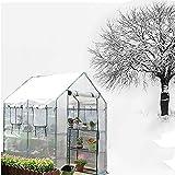 LQQ Tomaten tomatenhaus Begehbares Gartengewächshaus mit Lüftungsfenstern, PE-Gewächshaus mit...