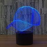 3D Illusion Nachtlicht Bluetooth Smart Control 7 & 16M Farbe Mobile App Led Vision Baseballkappe...