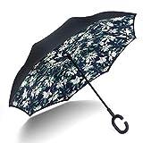 Cartoon manuelle Double-Layer-Reverse-Regenschirm, kreative C-Typ-Freisprechschirm Sonnenschirm,...