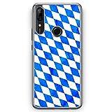 Bayern Flagge Grunge - Hlle fr Huawei P Smart Z - Motiv Design Bayrisch - Cover Hardcase Handyhlle...