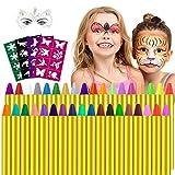 Gesichtsfarbe, 36 Farben Kinderschminke Set,Gesicht Körper Malerei Kits Sicher und Ungiftig...