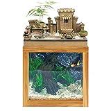 KQKLQQ Neue chinesische Landschaft Fengshui Aquarium, im sowjetischen Stil Garten Wohnzimmer...