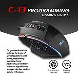 YONGRU Maus Gaming Mouse 7000 DPI 13 programmierbare Tasten RGB LED-Licht Mäuse