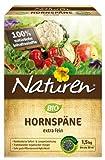 Naturen Bio Hornspäne, Natürlich organischer Stickstoffdünger mit Sofort-und Langzeitwirkung, 1,5...