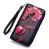 zyh1229 Geldbörse Bauhinia Pattern Zipper Card Pack Clutch Lady Handtasche