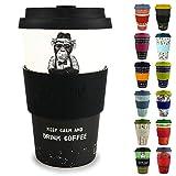 Morgenheld Dein trendiger Bambusbecher | Coffee-to-Go-Becher | Kaffeebecher mit Silikondeckel und...