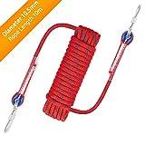 Awroutdoor Nylon Seil Klettern Sicherheitsseil Durchmesser 10.5mm mit Karabiner Lagergewicht 1200kg...