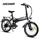 ANCHEER Elektrofahrrad, Faltbares E-Bike für Erwachsene, Faltrad, 20/26 Zoll Klapprad Pedelec mit...