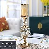 HNLHLY Teelichthalter, nordisches Kristallglas, Kerzenständer, Retro-amerikanischer Kerzenhalter,...