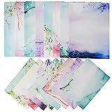 64 Blatt Briefpapier mit 8 Blatt Umschläge Set vintage Schreibpapier Motivpapier mit Umschlag ohne...