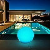 Solarleuchte, Solarlampe für Außen, Kugelleuchten mit 30cm Durchmesser und 8 Verstellbarer Farben,...