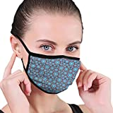 Earloop Safety Ma-SKS,Abstract Floral Circular Whirlpool Like Motif,Anti Dust Half Face Mouth Ma-sk...