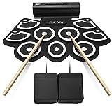 9 Pad Roll Up Drum Kit Tragbare Elektronische Drum Set Schlaginstrument mit Lautsprecher kann an...