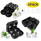 LBLA 3er-Pack Silikon Eiswürfelformen mit Abnehmbaren Deckeln und Trichter für Gefrierschrank...