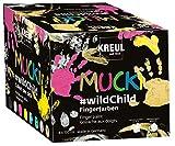 Kreul 2300 - Mucki leuchtkräftige Fingerfarben auf Wasserbasis, Premium Set 'Wild Child', für...
