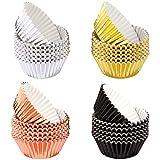 LUTER 400 Stück Muffin Cupcake Förmchen aus Folien, Backförmchen zum Backen Metallic Cupcake...