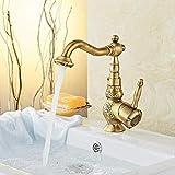 Antike europäische Rotation B Gold Code Rose. Zwerg 199,Wasserfall Wasserhahn Bad, Wasserhahn...