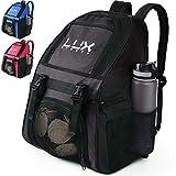 LUX, Fußball-Rucksack mit Ballhalterfach, für Kinder, Jugendliche, Jungen, Herren, Mädchen,...