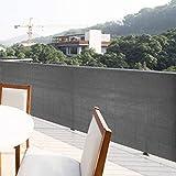 TIREOW Polyethylen Balkon Sichtschutz Uv-Schutz Blickdichte Wetterbeständig Balkonbespannung...