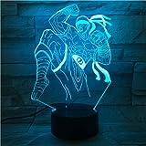 Heros Tischlampe Schlafzimmer Touch Sensor Farbwechsel Nachtlicht der blinde Mönch Lee Sin LED...