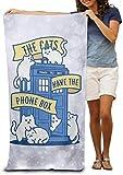 wenxiupin Funny Bath Towel The Cats Have The Phone Box Soft Lightweight Beach Towel Pool Towel 30x50