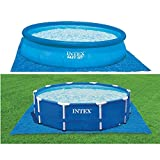 Intex Pool Ground Cloth - Pool Bodenplane - 4,72 m - Fr Easy Set und Frame Pools von 244 - 457 cm