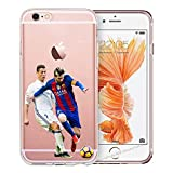 Handyhülle Weltmeister Cup Fussball kompatibel für Huawei P8 Lite 2017 Messi VS Ronaldo Schutz...