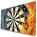 Mauspad Fire und Ice Dartscheibe, Gaming-Mauspad, dekoratives Mauspad, Gummiunterseite,...